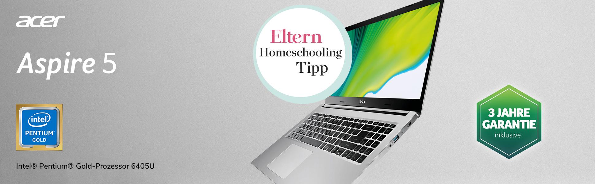 Powervoll und mobil. Das Aspire 5 von Acer bietet alles, was Sie für Ihren Schulalltag benötigen.