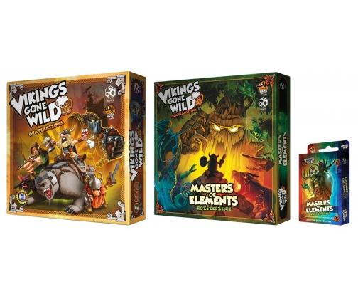 Gra planszowa Games Factory Vikings gone Wild - zestaw podstawka + dodatki