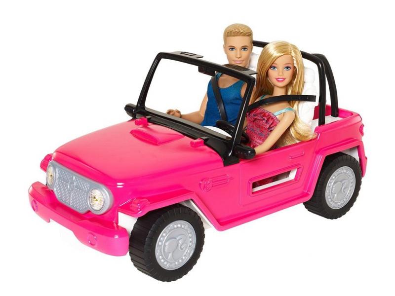Barbie Plażowy samochód + Barbie i Ken
