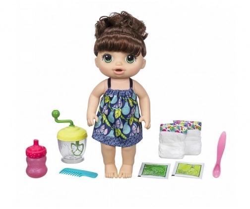 Lalka Baby Alive Słodka przekąska brunetka